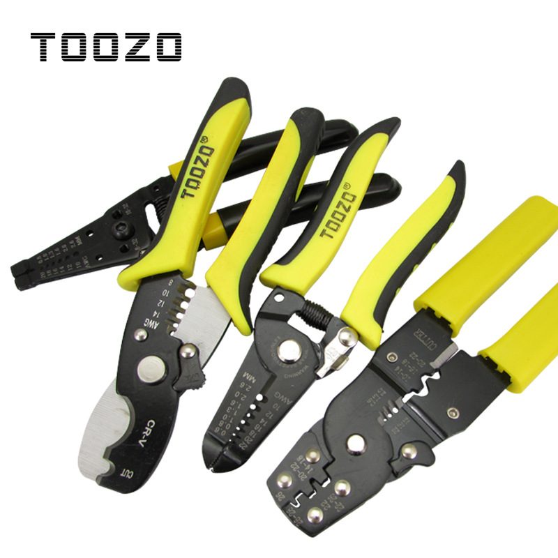 TOOZO Wire stripping pliers Multifunctional electrician special tools Artifact Scissors, cutting, un