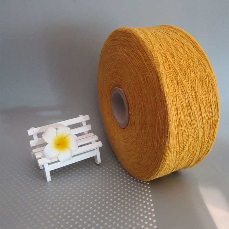 Orange-yellow cotton yarn yarn recycled cotton yarn cheese cotton spinning