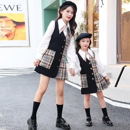 Áo thun gia đình  Phụ huynh và trẻ em mặc phiên bản Hàn Quốc của mẹ và phụ nữ ăn mặc kiểu phương tây