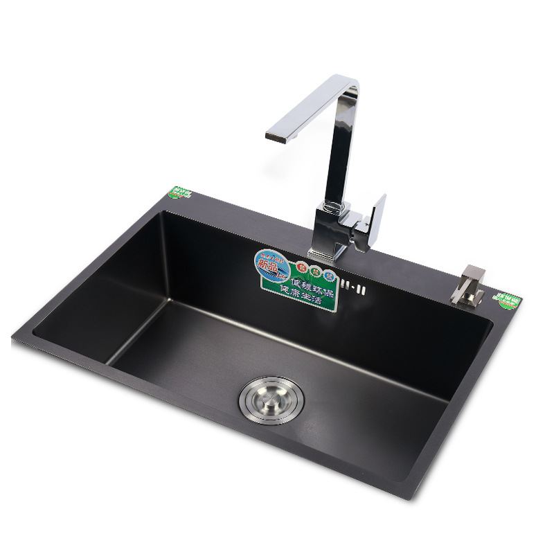 N-ENJOY Nano sink black large single tank 304 stainless steel thickened countertop and counter kitch
