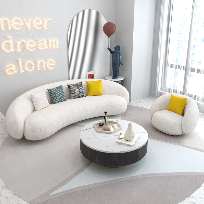 QIAOYU Nordic fabric sofa beauty salon reception creative small apartment simple modern living room