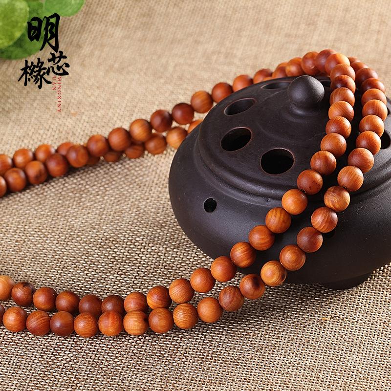 Taihang Chenhua Yabai Cypress Bracelet 108 Red Oil Sodium Beads Submerged Rosary 0.8 Bracelet Beads