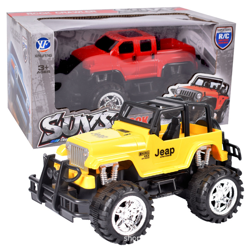 Children's toy remote control car large wireless charging off-road vehicle Wrangler electric toy