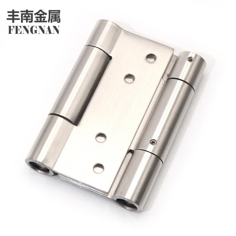 Stainless steel hinge direct supply 4 inch * 3mm thick buffer double door hinge free door hinge doub