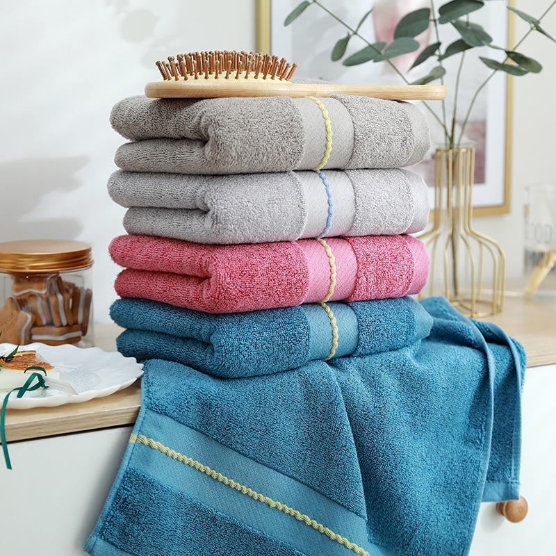 YUNSHUO Bamboo fiber bamboo charcoal towel soft face towel custom 120g household daily solid color f