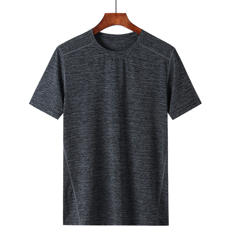 2021 summer men's short-sleeved t-shirt middle-aged and elderly sports half-sleeved bottoming shirt