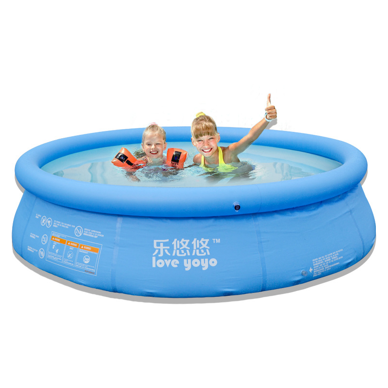 Family use clip-net inflatable baby swimming pool for children and young children round oversized ad