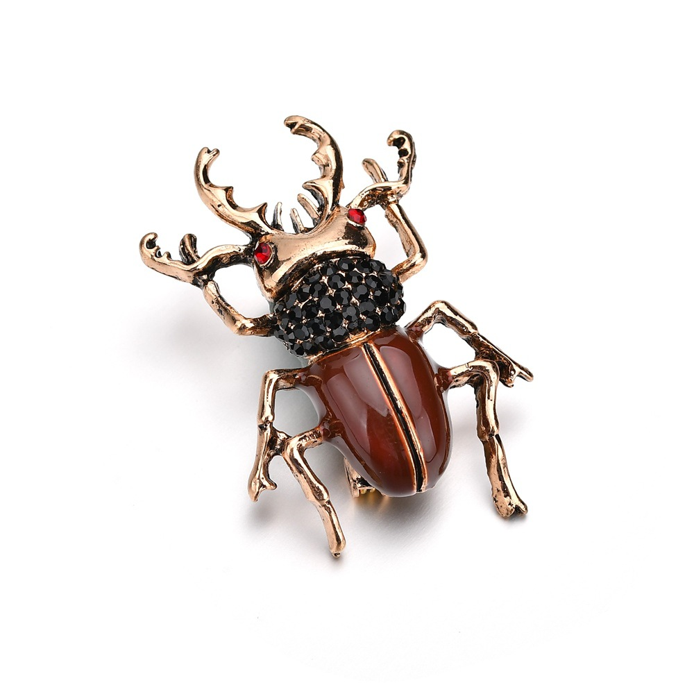 Terreau Kathy European and American fashion personality classic design beetle insect animal brooch d