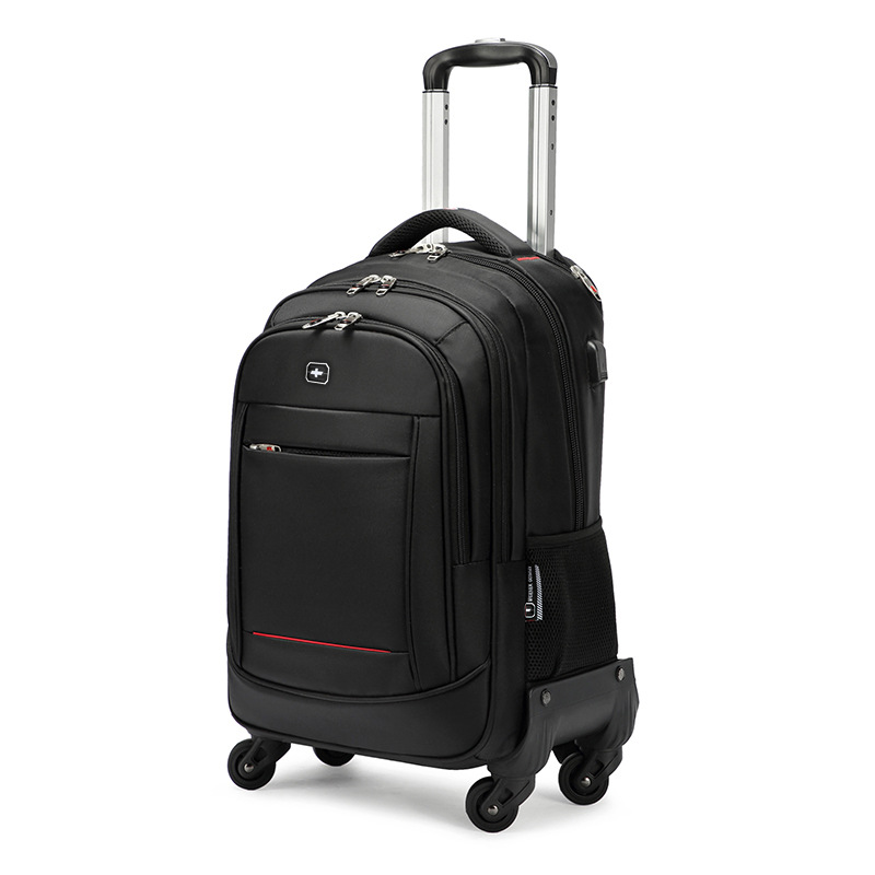 Swiss Army Knife Trolley Backpack Universal Wheel Business Travel Trolley Bag Male Multi-function Tr