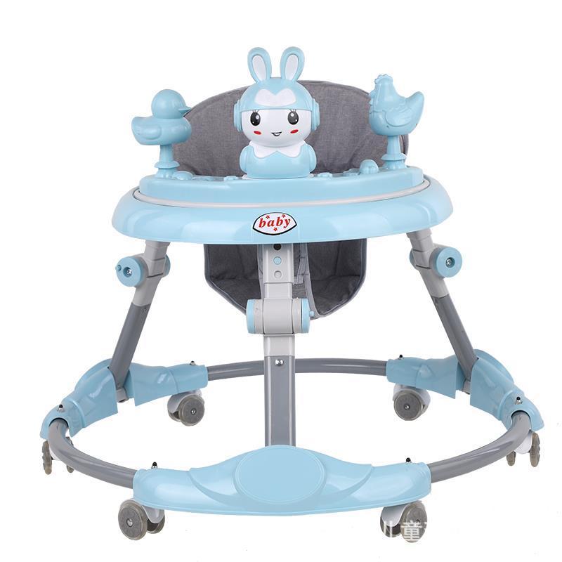 Baby walker adjustment anti-O-leg anti-rollover foldable 6-18 months baby starter gift