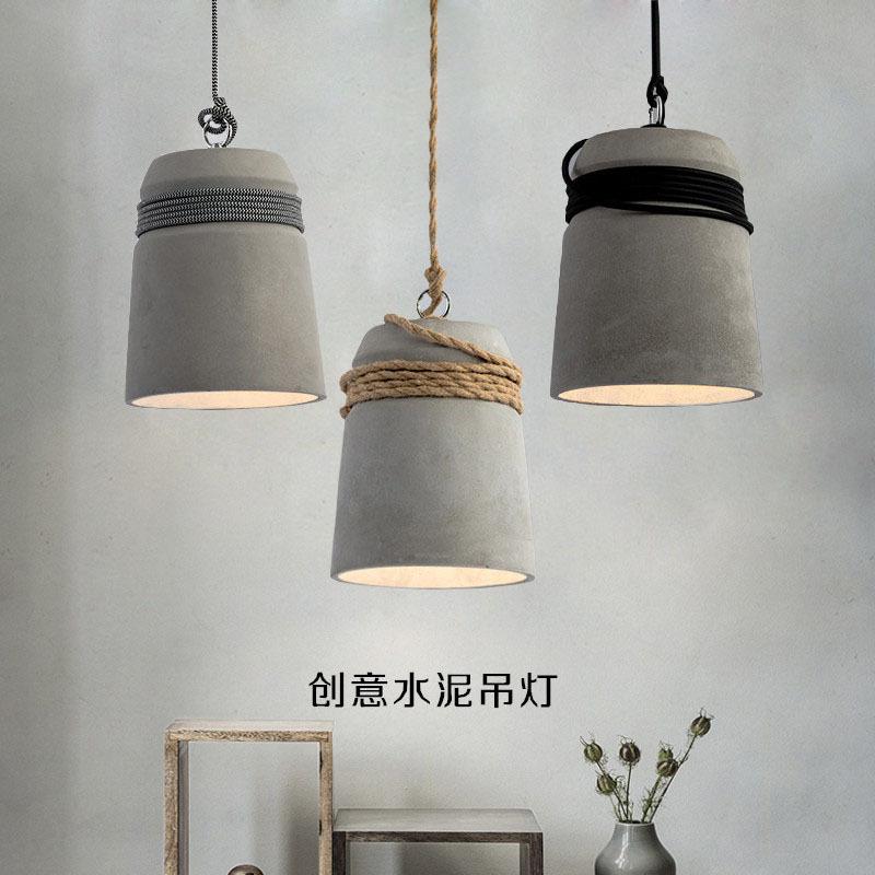 HUIYIJIA Nordic retro industrial style cement chandelier creative personality nostalgic restaurant b
