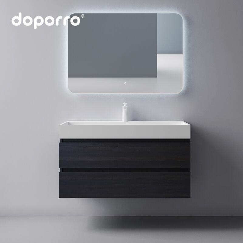Tủ phòng tắm kết hợp chậu rửa đơn giản doporro nordic light sang trọng