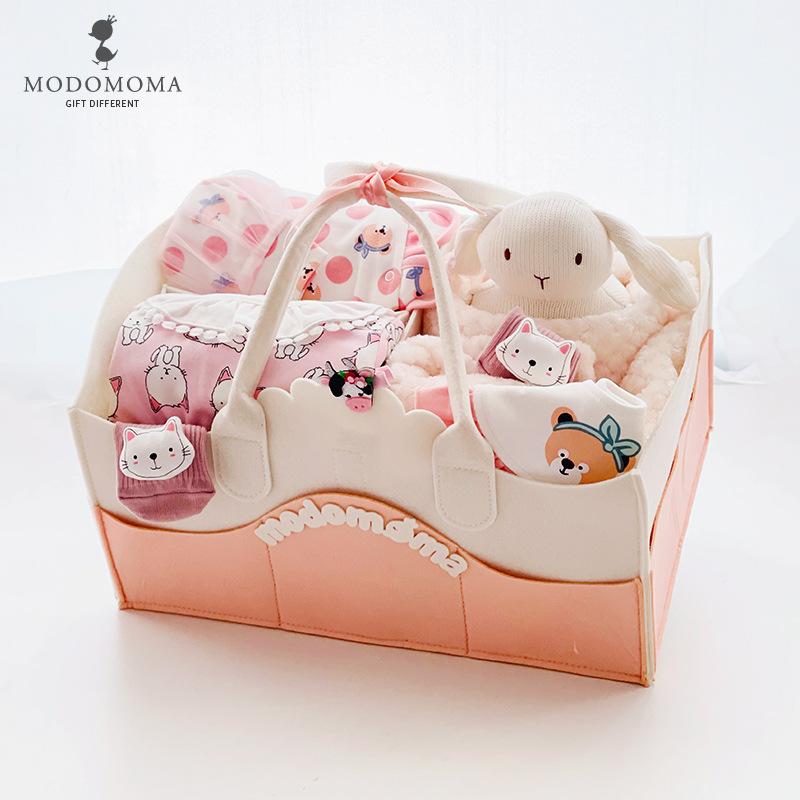 Modomoma newborn supplies baby gift box spring female treasure princess wind one-piece romper suit f