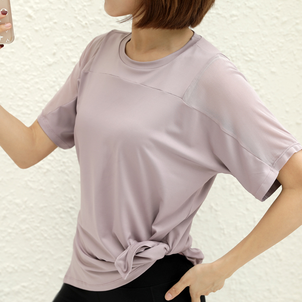Loose sports short-sleeved women's summer running fitness clothes plus size sports T-shirt quick-dr