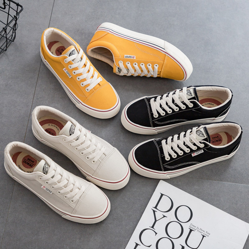 DDOO all-match canvas shoes women's spring 2021 new ulzzang Harajuku classic 1970s women's shoes