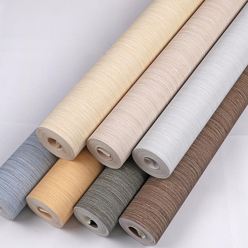 GEYUN Plain imitation yarn fine vertical stripes 3D three-dimensional engineering wallpaper modern m