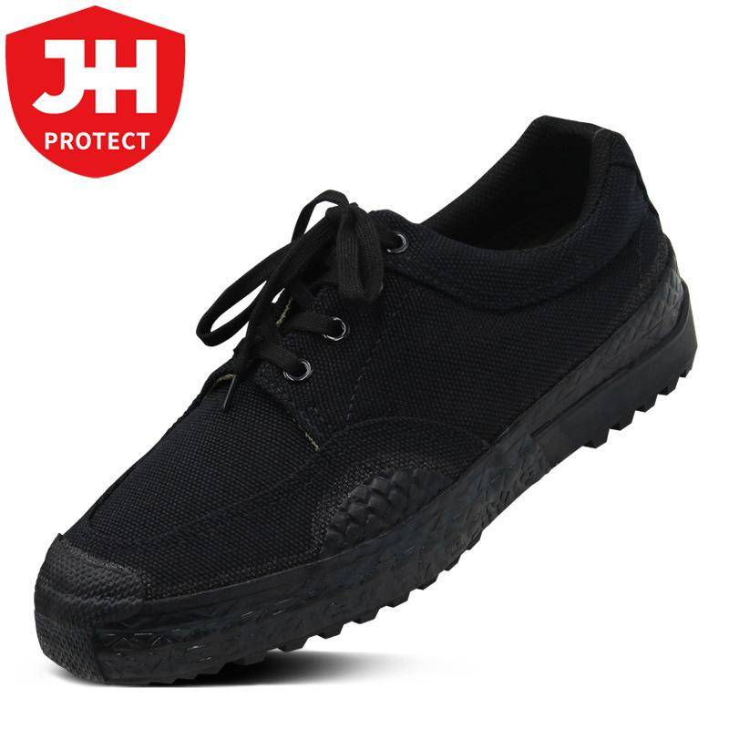 Jihua 3537 Jiefang shoes men's shoes black training shoes wear-resistant construction site labor ru