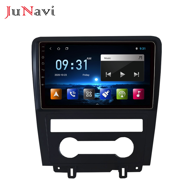 Suitable for 10 Mustang navigation Android large screen manual air conditioner MP5 Bluetooth network