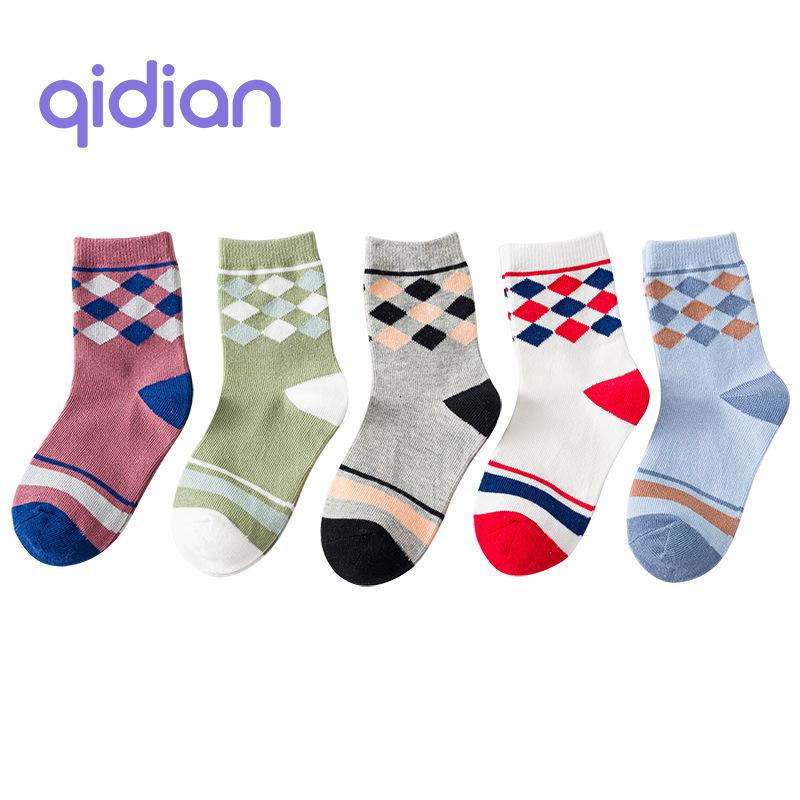 Spring new cartoon combed cotton socks, children's socks, boys and girls tube socks, independent pa