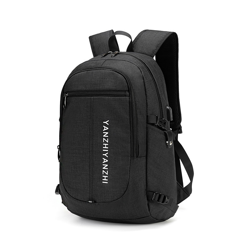 Computer backpack male usb rechargeable shoulder bag men's casual business Oxford cloth waterproof