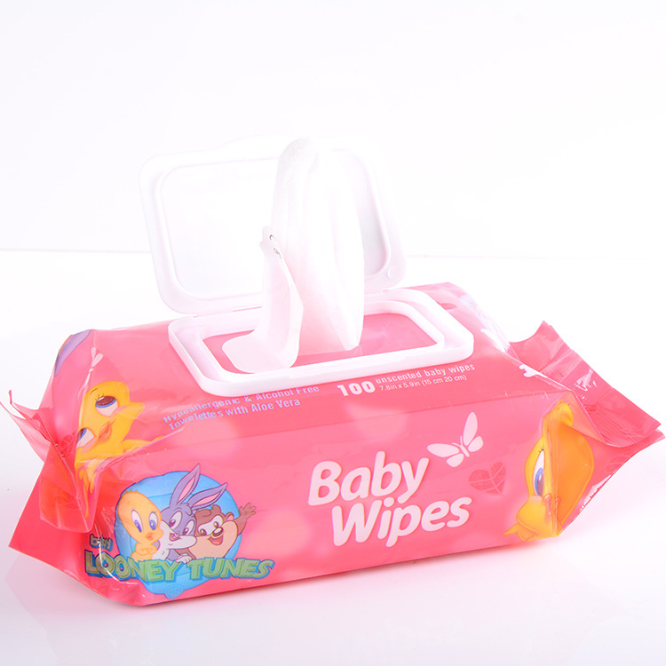 DONGBANG Spunlace baby wipes with thickened pearl texture with lid