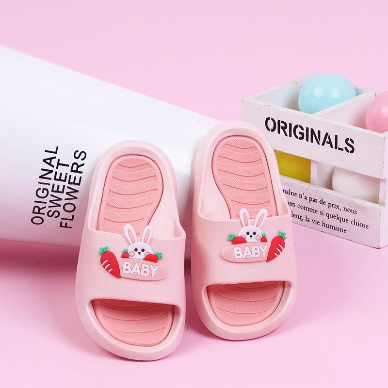 2021 summer children's slippers, fruit children's shoes, bunny cartoon flip-flops, fashion childre
