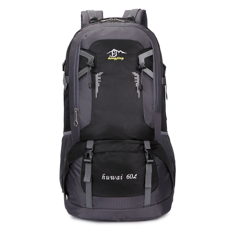 60L large-capacity outdoor mountaineering bag waterproof nylon travel bag couple shoulder leisure me