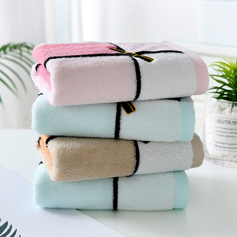Daily necessities Adult Yarn-dyed Embroidered Face Towel Wipe Face Towel Pure Cotton Gift Household