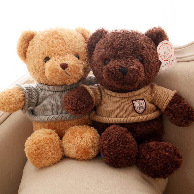 Little bear doll rag doll sweater teddy bear doll plush toy pillow bear hug bear girl birthday gift