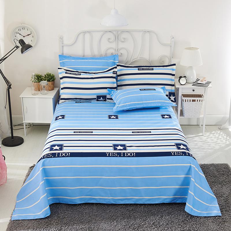 FEIERMEI Bedding: Brushed single bed sheet, single double bed, single dormitory bed sheet