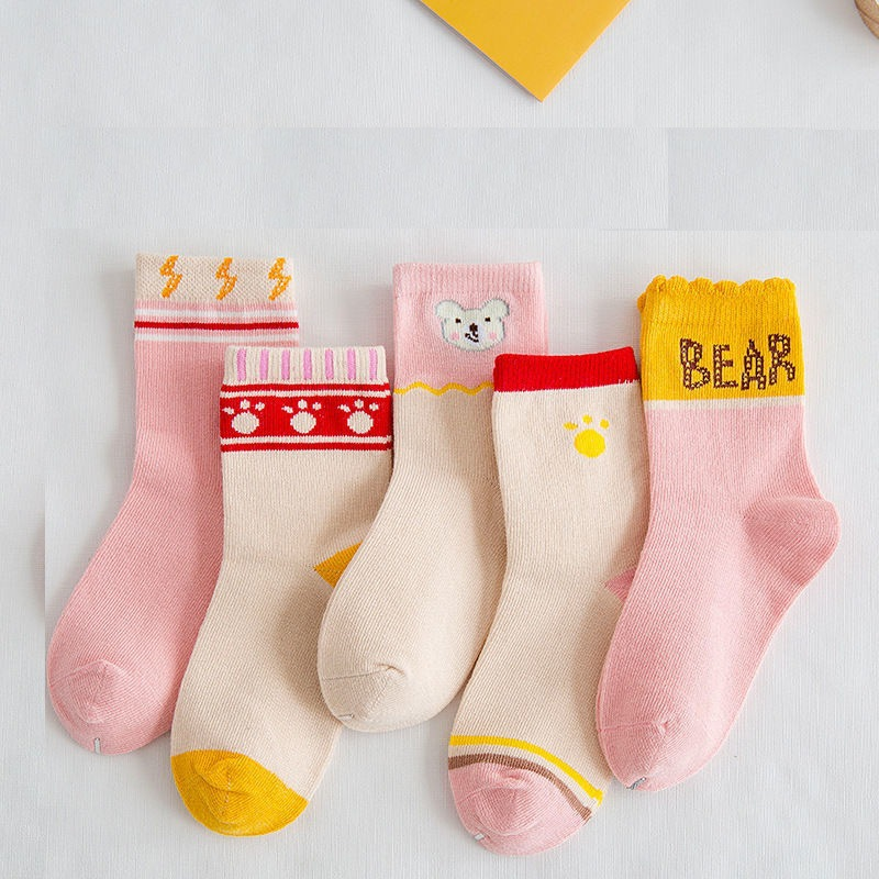 Children's socks Xinjiang cotton spring and autumn tube baby middle-aged children 10 years old 15 a