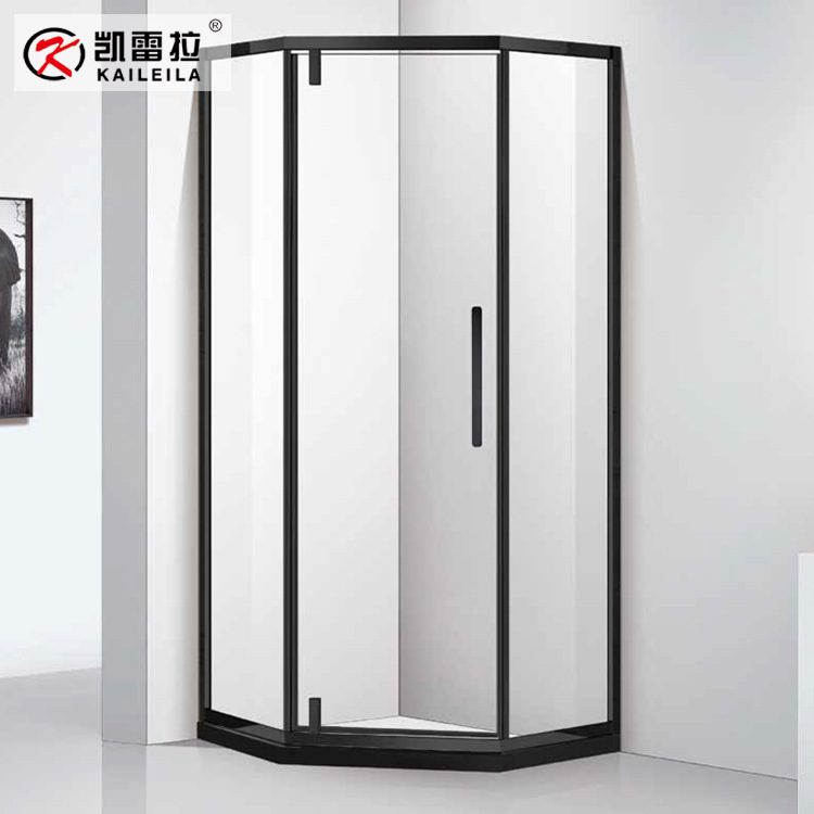 KAILEILA Aurora shower room flat door hotel custom engineered bathroom dry and wet separate bathtub