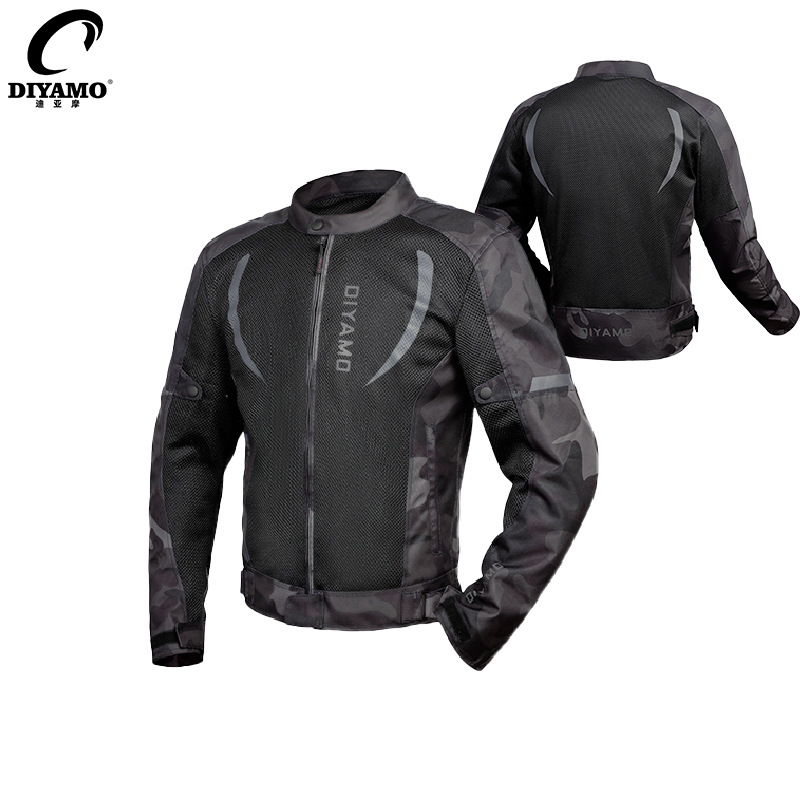Motorcycle jersey suit men's streamlined anti-fall and breathable summer motorcycle suit