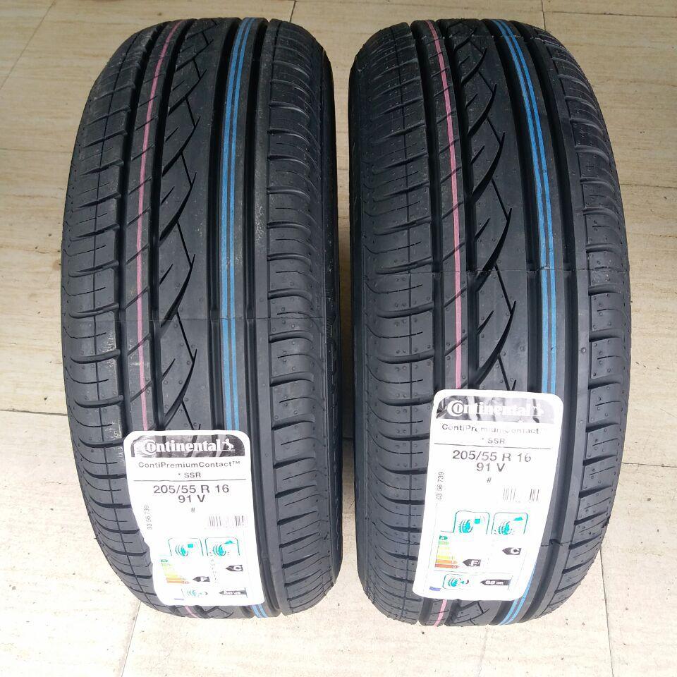 Continental 205/55R16 91V CPC SSR run-flat tire /MC5 CC5 ordinary tire