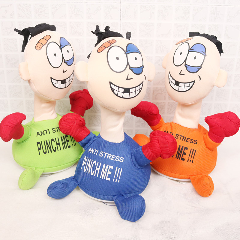 Punch me villain electric plush toy creative vent screaming doll