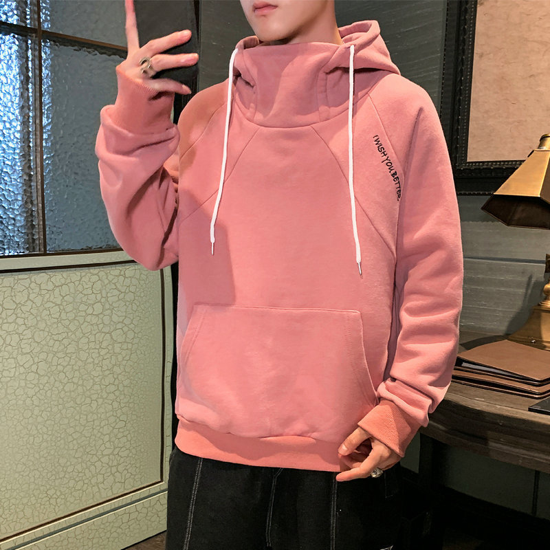 Hooded sweater men's spring and autumn clothes new Japanese large size loose casual trendy brand he