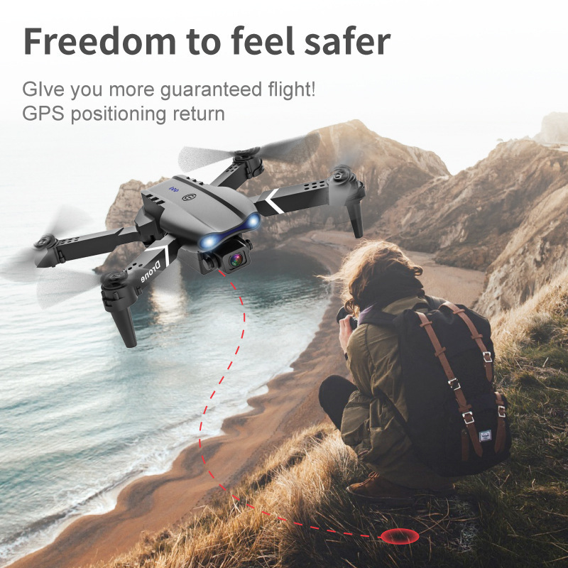 QIJIAN New product E99 dual camera 4K HD aerial photography drone folding quadcopter remote control