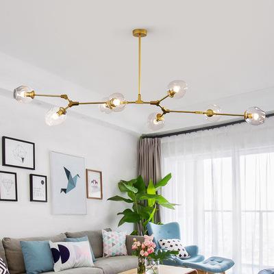 GAOFENG Đèn treo trần Phòng khách đèn chùm ánh sáng phòng khách sang trọng đèn nordic đèn hiện đại t