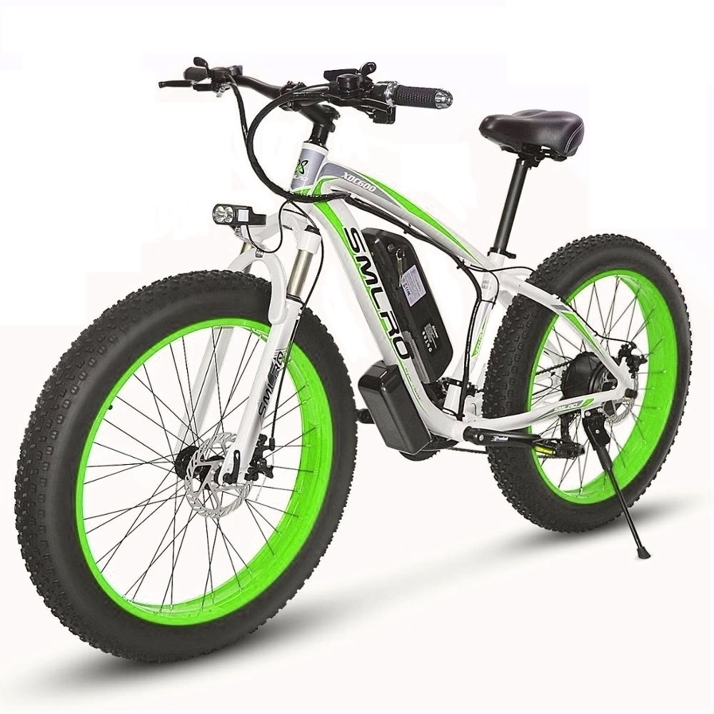 SMLRO lithium battery snow bike 26 inch 36V beach electric bicycle pure moped