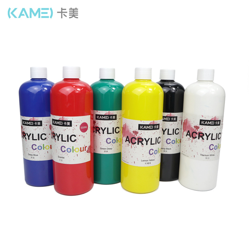 KAMEI Came 500ML Pigment Acrylic Watercolor Gouache Oil Painting Art Material Children's Painting
