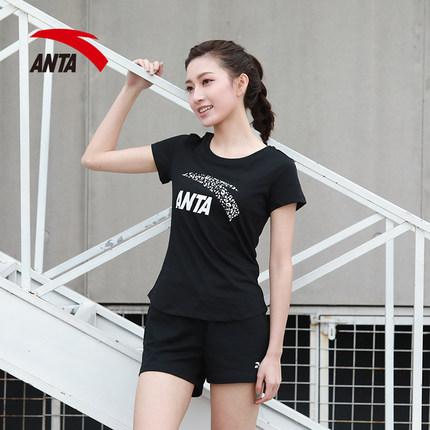 Anta Áo thun mau khô  áo phông ngắn tay nữ màu trắng 2021 mới trang web chính thức mùa hè hàng đầu t