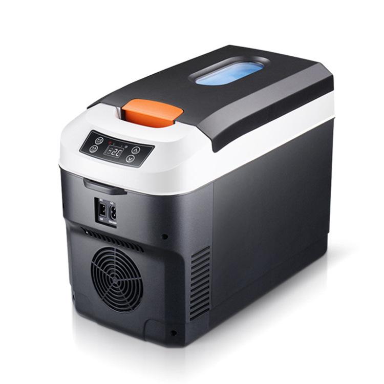 Jingke 10L horizontal car home dual-use 12V/24V/220V truck special car refrigerator mini heating and