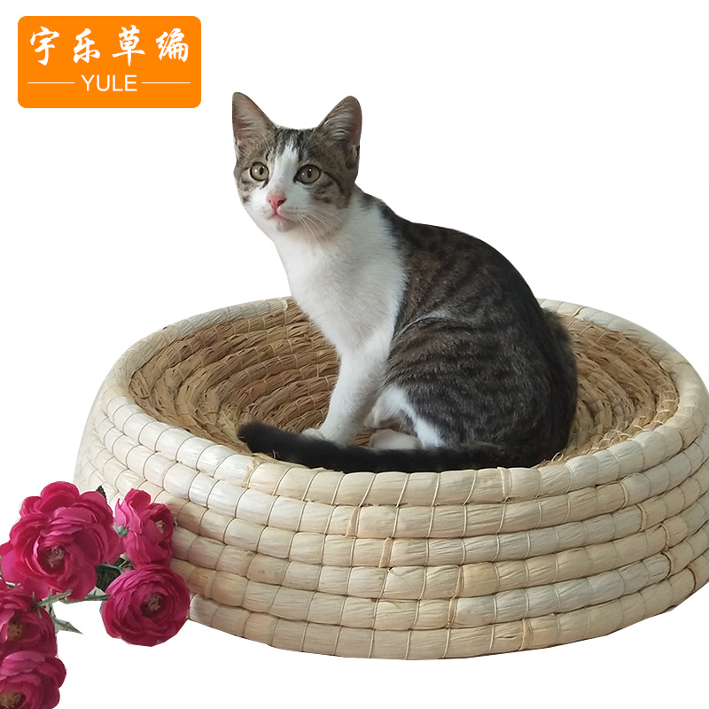 Pet cat litter summer cat litter large pet litter cat scratcher kennel variety of straw felt cat lit