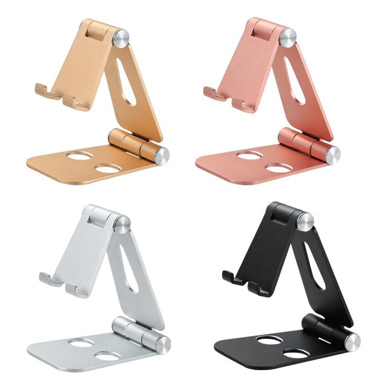 MINGCHENGXIN Z6a aluminum alloy double folding mobile phone tablet holder can be customized logo des