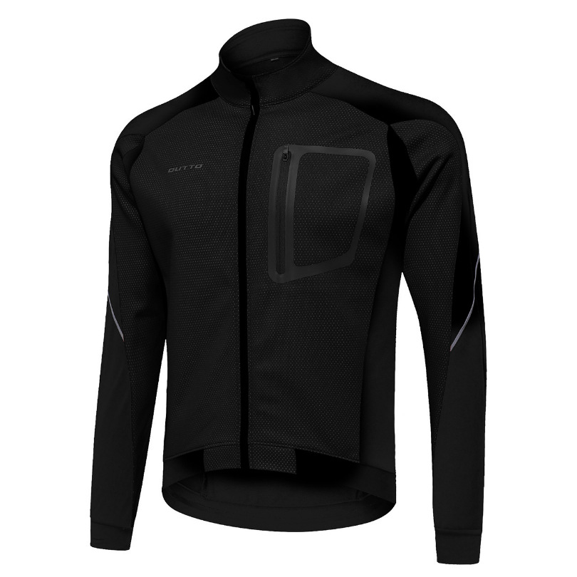 Winter Mountain Bike Long Sleeve Cycling Jersey Warm Windproof Fleece Bike Running Sports Top