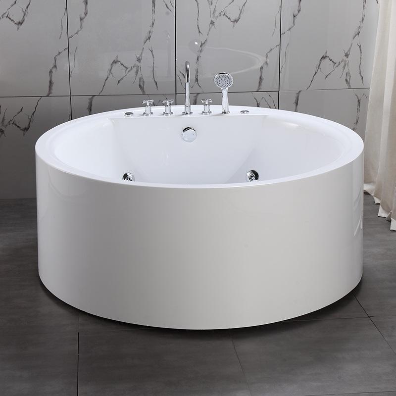 MINGWEI Round bathtub 1.5 meters adult home double hotel Japanese massage constant temperature heati