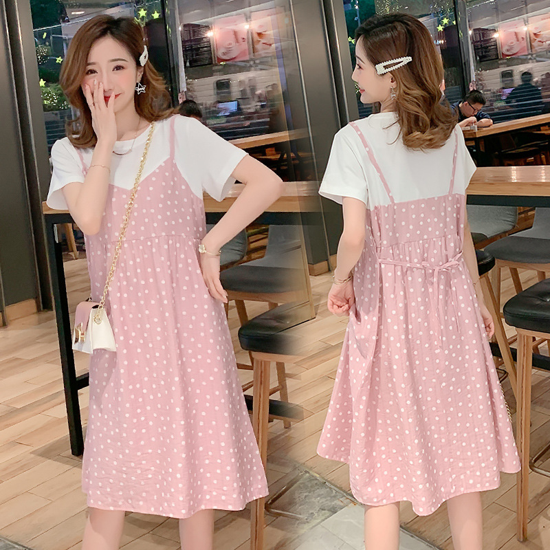 Maternity summer dress fashion 2021 maternity dress summer skirt tide hot mom personality foreign st