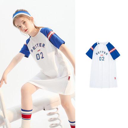 Balabala Đầm váy trẻ em trẻ em váy cô gái váy quần áo trẻ em 2021 quần áo mùa hè mới lớn trẻ em phon