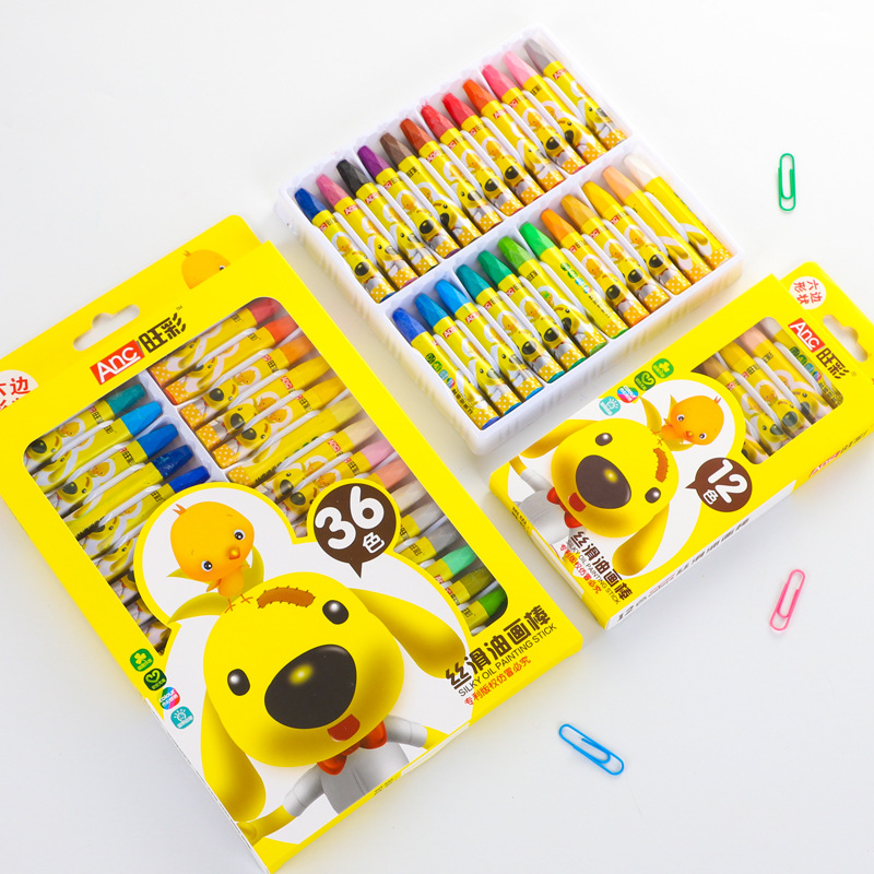 WANGCAI Oil pastel set children's drawing crayons 12 colors 36 colors baby coloring pen gift box st