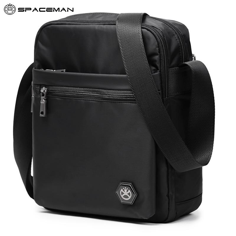Spaman men's messenger bag 2018 new multi-pocket casual business men's bag lightweight Oxford clot